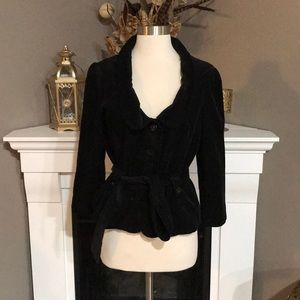 Anthropologie Elevenses Black Corduroy Jacket
